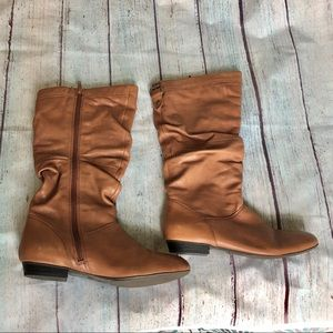 Aldo leather slouch boots